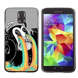 CaseCaptain Carcasa Funda Case - Samsung Galaxy S5 V SM-G900 / Funny Abstract Monster /