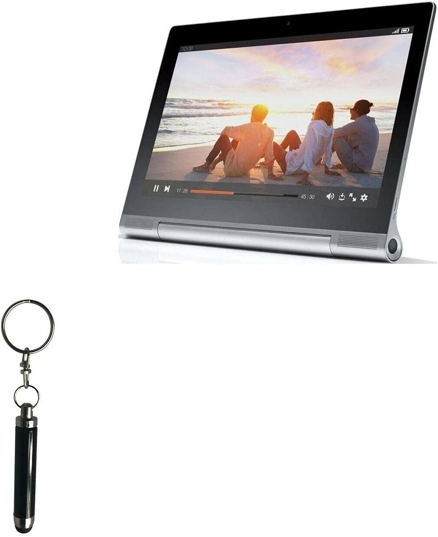 Stylus Pen for Lenovo Yoga Tablet 2 Pro (Stylus Pen by BoxWave) - Bullet Capacitive Stylus, Mini Stylus Pen with Keyring Loop for Lenovo Yoga Tablet 2 Pro - Jet Black