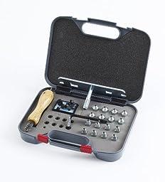 Horse Shoe Stud Kit w/Plastic Case - Graphite - One