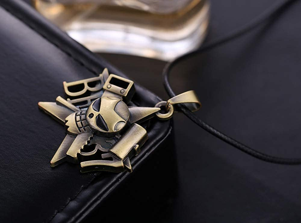 Inveroo Hot Anime One Piece Franky Pirates Skull Bronze Pendant/&Necklace Personality Jewelry