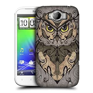 Head Case Designs Owl Animal Swirls Protective Snap-on Hard Back Case Cover for HTC Sensation XL