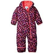 Columbia Baby Girls' Frosty Freeze Bunting, Dark Raspberry Blocks, 3-6 Months