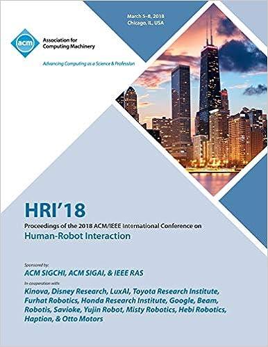 Hri '18: Proceedings of the 2018 Acm/IEEE International Conference