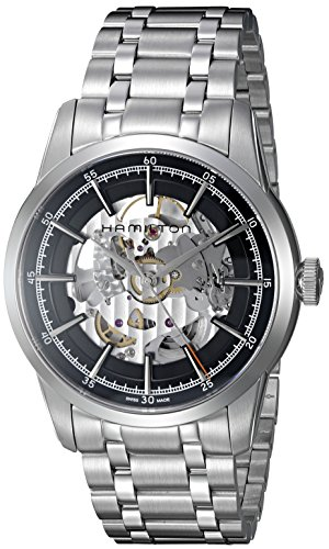 (Hamilton Men's Timeless Classic Swiss-Automatic Watch with Stainless-Steel Strap, Silver, 22 (Model: H40655131))