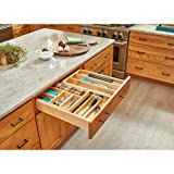 Rev-A-Shelf 4WTCD-30SC-1 Double Tiered Cutlery Drawer with Soft-Close Slides, 27'', Natural