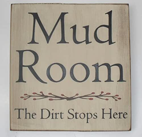 Mud Kitchen Signs: Amazon.com: Mud Room Sign The Dirt Stops Here Hand Painted