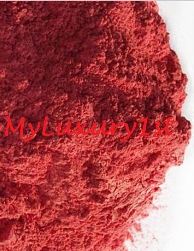 0.88 Oz Pure Red Orange Mineral Mica Powder DIY Natural Cosmetic Lip Nail Shimmer Soap Color Dye 25g MyLuxury1st