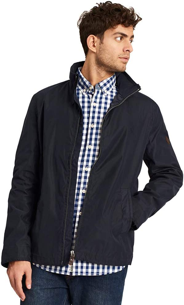 Joules Mens Hillway Lightweight Adjustable Short Bomber Jacket Coat