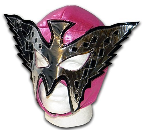 Halloween Luchador Costume (WRESTLING MASKS UK Women's Butterfly Wrestling Lucha Libre Mexican Mask One Size Pink)
