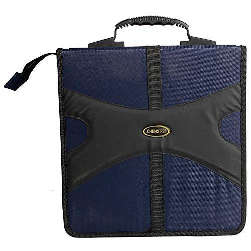 Qiaonai(TM) Oxford 320 Capacity CD DVD Storage Bag Holder Case Blue
