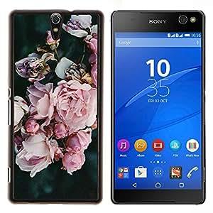 - rosebush garden petals pink blue/ Duro Snap en el tel??fono celular de la cubierta - Cao - For Sony Xperia C5 Ultra