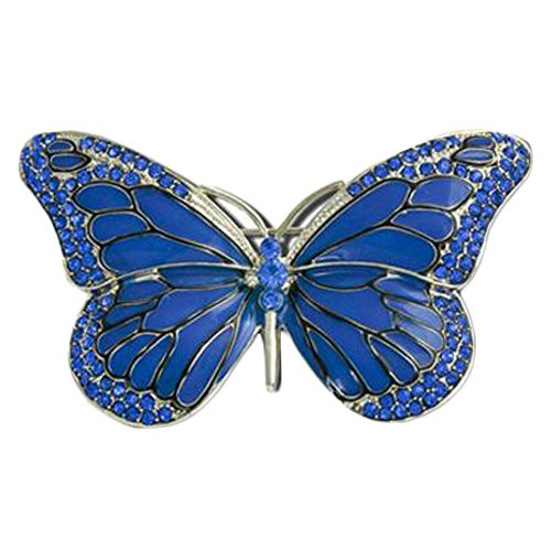 Fashionable Collar Rhinestones Butterfly Brooch Suit Brooch For Womens, Blue