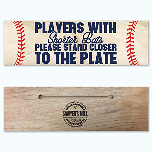 players-with-shorter-bats-please-stand-closer-to-the-plate-funny-baseball-handmade-wood-block-sign