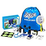 Joyjoz Outdoor Explorer Kit for Kids, Nature Adventure Kit, 12 Pcs Boy Gift Toys, Educational Science Bug Kit with Bug Containers, Binoculars, Butterfly Nets, Magnifying Glass, Flashlight, Whistle Etc.