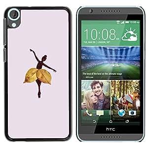 Paccase / SLIM PC / Aliminium Casa Carcasa Funda Case Cover para - Autumn Leaf Deep Lilac - HTC Desire 820