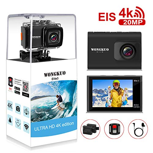 UPGRADED WONGKUO Action Camera 4K