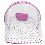 MOMY MOM Baby Bedding Set with Mosquito Net and Pillow/Infant Machardani/Newborn Net Bed; Thick Mattress, Cotton- 1-12…