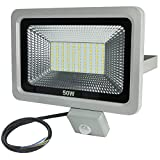RPGT 50W SMD LED Security Floodlights Flood Lights Spotlight Warm White With PIR Sensor Box (50W)