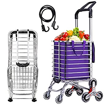 c7ccf12e04a7 Amazon.com: Lovinland Shopping Cart Folding Grocery Trolley Stair ...