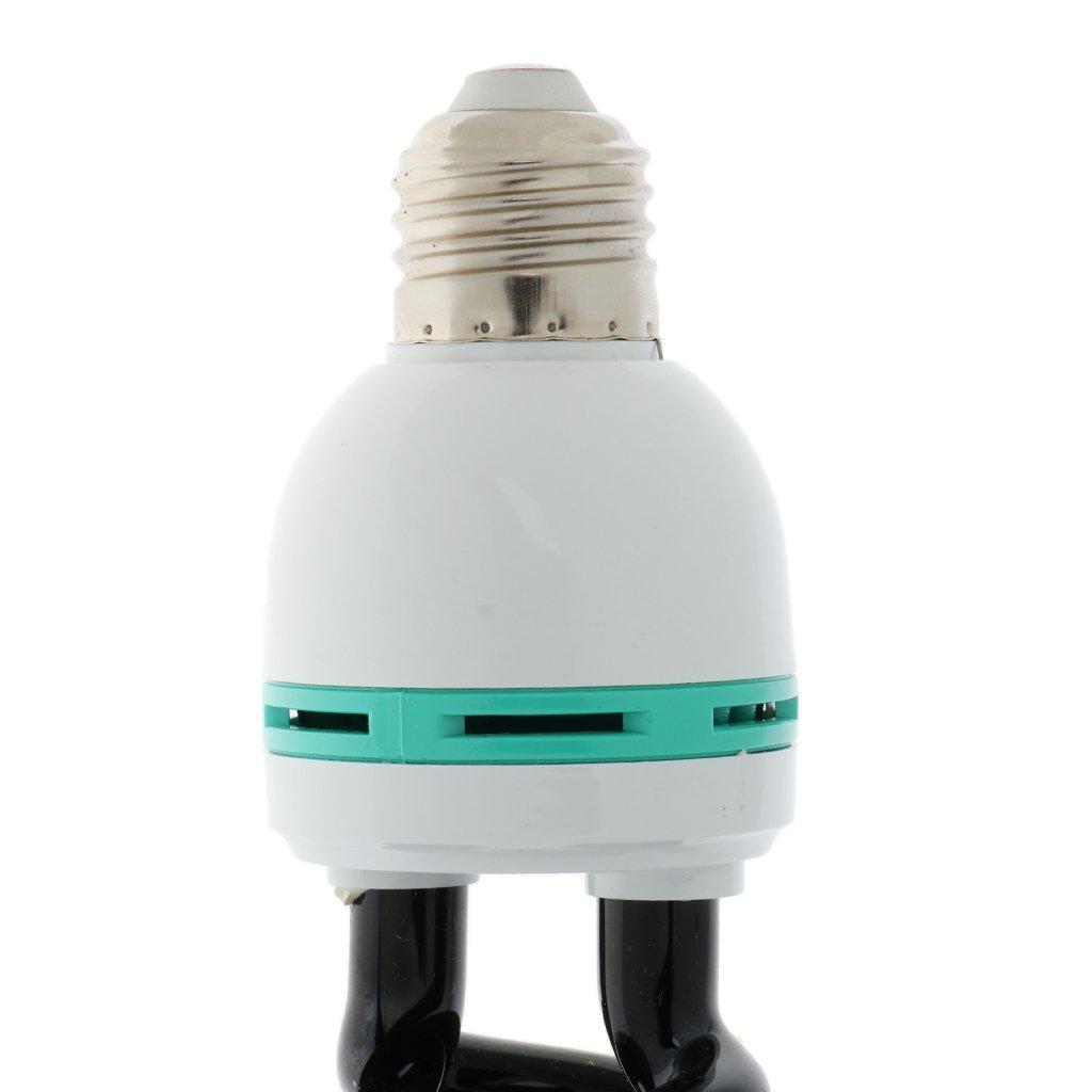 MagiDeal E27 Lampada Risparmio Energetico Ultravioletto UV Nero Stadio Sprial Lampadina Anti-insetto Luce 9W Nero