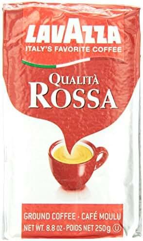 Lavazza Qualita Rossa - Caffe Ground Espresso, 8.8-Ounce Bricks (Pack of 4)
