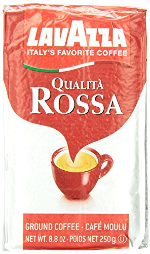 Lavazza Qualita Rossa Ground Coffee Blend, Medium Roast, 8.8-Ounce Bags (Pack of 4)
