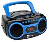 HDi Audio CD Boombox CD-518 Blue Sport Stereo Portable CD Player with AM/FM Radio and Aux Line-in Boombox Black/Blue
