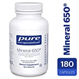 Pure Encapsulations – Mineral 650 – Hypoallergenic Combination of Balanced Chelated-Minerals – 180 Capsules