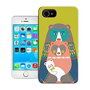 DIY ARTICLE?414 Baby BearCustom Unique Creative Art Pattern Cell Phone Case For iPhone4/4s