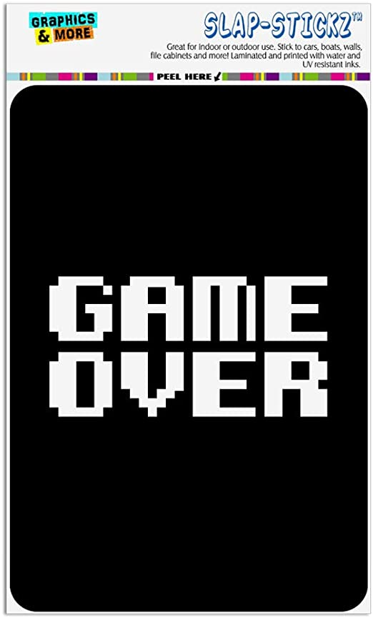 Amazon Com Graphics More Game Over Gamer Pixel Font Geek Home Business Office Sign Home Kitchen
