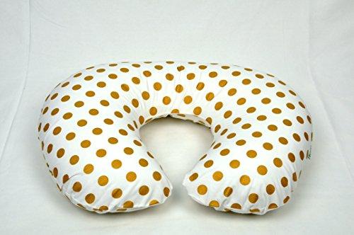 Metallic Gold Medium Dots Boppy Pillow Cover