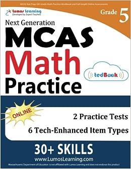 MCAS Test Prep: 5th Grade Math Practice Workbook and Full-length
