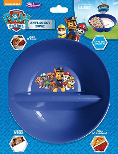 (Nickelodeon, Paw Patrol - Anti Soggy Cereal Bowl for Keeping your Cereal Crunchy - Just Crunch Never Soggy Bowls for Cereal and Milk, Ice Cream, Topping, Yogurt, Berries, Fried/Ketchup and More)
