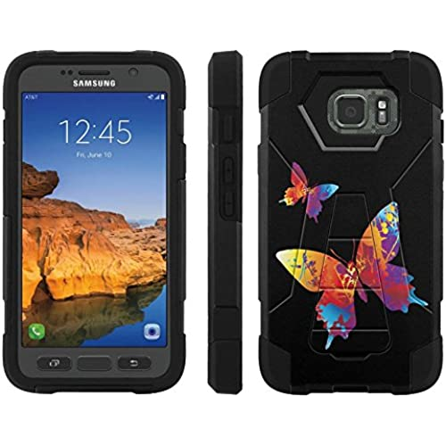 AT&T [Galaxy S7 Active] ShockProof Case [ArmorXtreme] [Black/Black] Hybrid Defender [Kickstand] - [Butterfly] for Samsung Galaxy [S7 Active] Sales