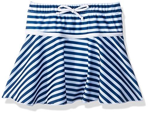 Flap Happy Big Girls' UPF 50+ Swim Skirt with Built in Bikini Brief, Hampton Stripe, 5