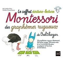 Montessori des graphèmes rugueux de Balthazar Coffret écrit.-lect