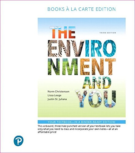 The Environment and You, Books a la Carte Edition (3rd Edition)
