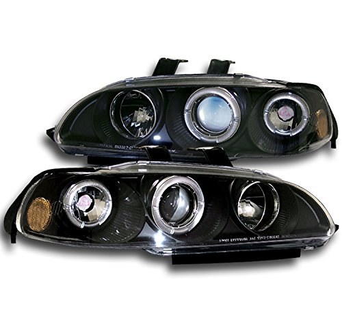 Jdm Projector Headlights - ZMAUTOPARTS Honda Civic 2/3Dr Halo Projector Headlight JDM Black Hatchback Coupe
