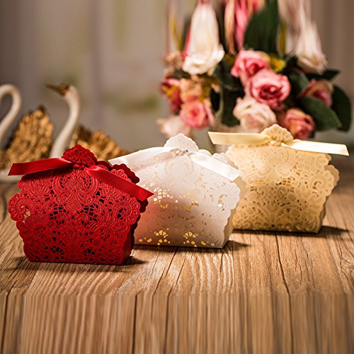Krismile 50pcs Wedding Decorations Red And Champagne Color Import