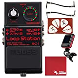 BOSS RC-1 Loop Station Pedal Limited Edition Black with Cables, Tuner, Polish Cloth, and Picks
