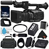 Panasonic AG-UX180 AG-UX180PJ 4K Premium Professional Camcorder + 32GB SDHC Class 10 Memory Card + Carrying Case + 67mm UV Filter + Memory Card Wallet + SD Card USB Reader + MicroFiber Cloth Bundle