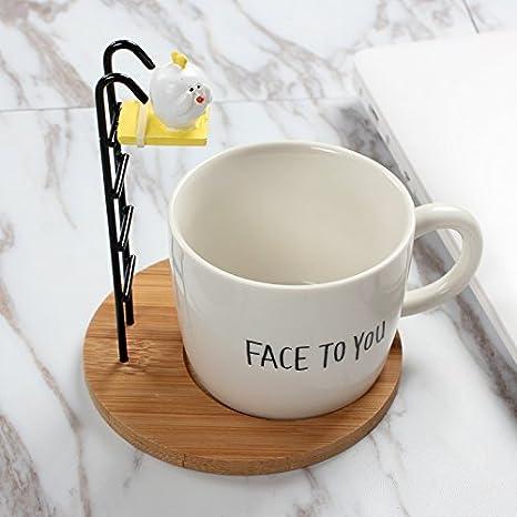BXSBH-Preciosa estudiante taza de cerámica taza de café taza de té para desayuno una taza de cafe con leche: Amazon.es: Hogar