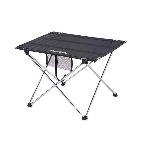 Mesa de camping portátil, pequeña mesa plegable ultraligera con ...