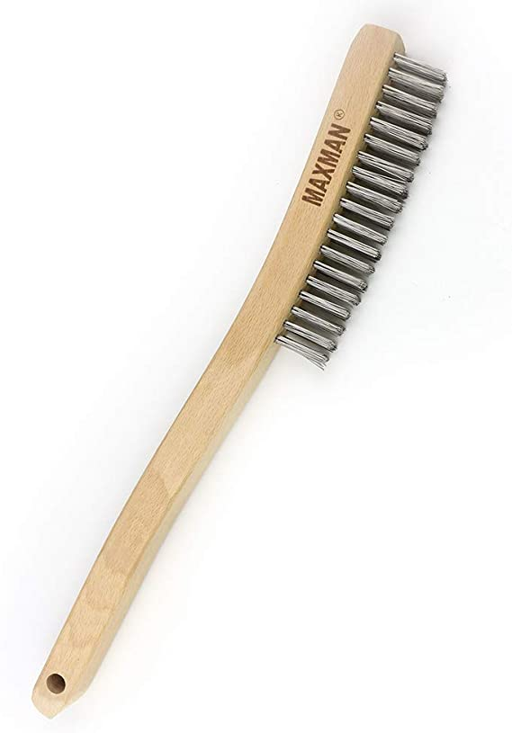 5x VEWERK Soft Grip Stainless Steel Wire Brush 260mm