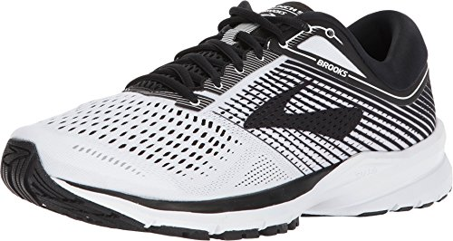 Brooks Mens Launch 5 - White/Black/White - D - 12.0