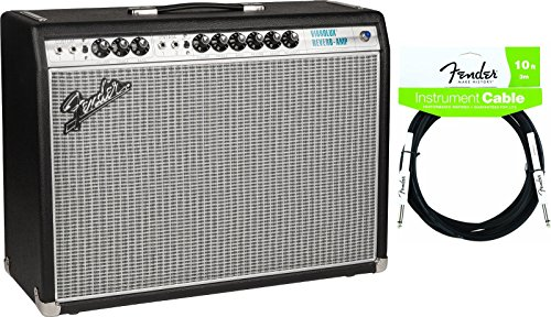 Vibrolux Reverb Guitar (Fender 2275000000 '68 Custom Vibrolux Reverb Combo Tube Amp, 2-Button Footswitch Included w/ Instrument Cable)
