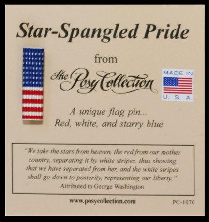 US American Flag Ribbon Bar Pin - Made in USA