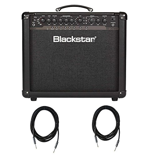Blackstar ID30 1X12'' 30W Programmable Combo with 2 Strukture SC10W - 10ft Instrument Cable by Blackstar
