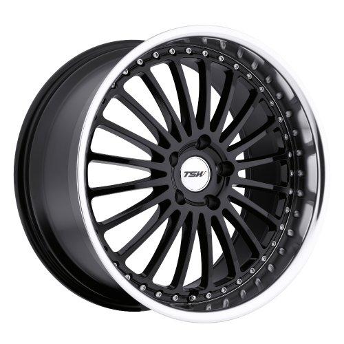 "TSW Silverstone Gloss Black Wheel with Machined Lip (20x8.5""/5x120mm)"