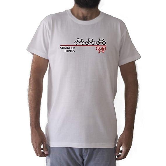 GAMBA TARONJA Stranger Things - Camiseta - Bicicletas - Serie (S)